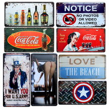 VW Bus Vintage Car License Tin Sign 30x15cm Metal Signs Bar Pub Home Wall Decor Plaque Iron Plate Craft Painting Wholesale A578