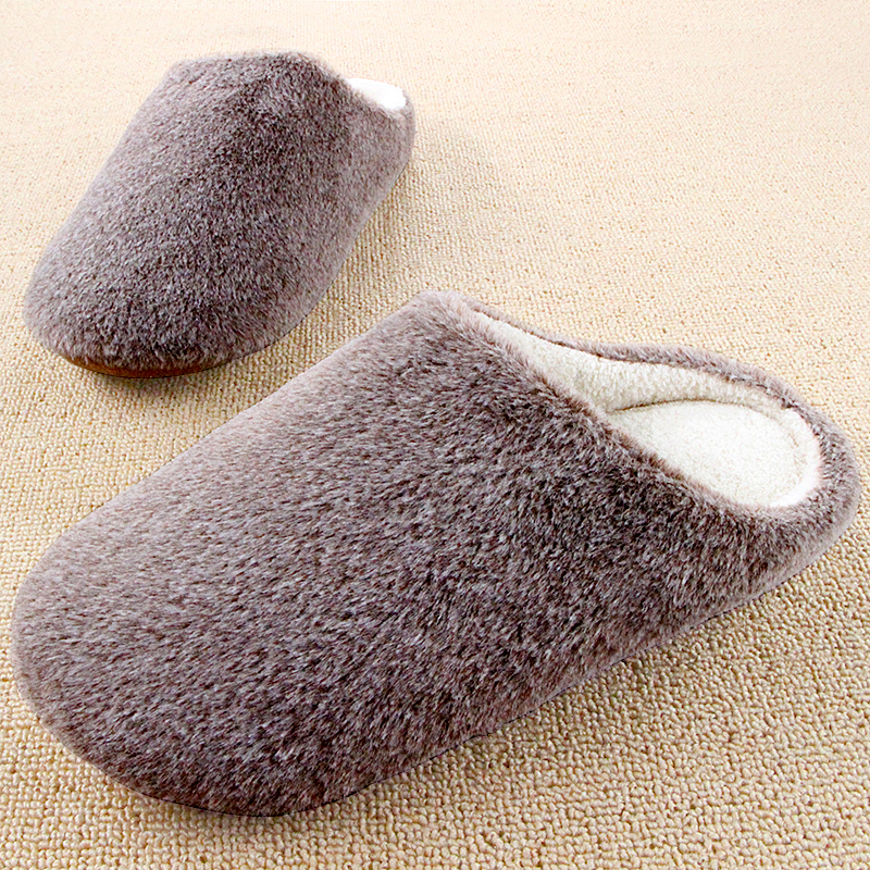 Winter Couples Warm Soft Sole Home Slippers For Women And Men Indoor Pantofole Fleece House Shoes
