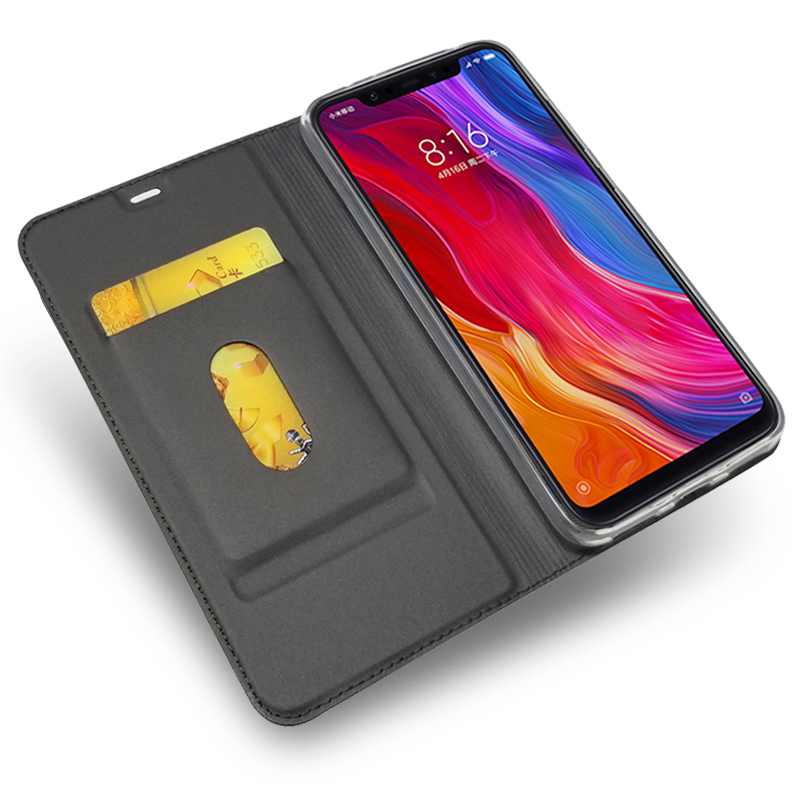 Luxury Case for <font><b>Xiaomi</b></font> <font><b>Pocophone</b></font> <font><b>F1</b></font> <font><b>6GB</b></font> 64GB Magnetic Leather Cover Coque Xiomi POCO <font><b>F1</b></font> Wallet Flip Phone Bag Fundas Capa image