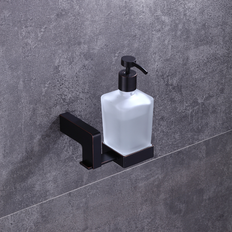 ULGKSD Bathroom Hardware Liquid Shampoo Soap Dispenser Bathroom Ancessories Black Brass For Shower Shampoo Soap Dispenser free shipping brass black liquid soap dispenser bathroom kitchen stainless steel touch soap dispenser wall mounted 1000ml