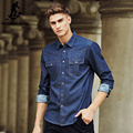 Pioneer Camp famous Brand 100% Cotton Long Sleeve Denim Shirts Men Casual Men shirts New design Fashion Autumn Spring 611500