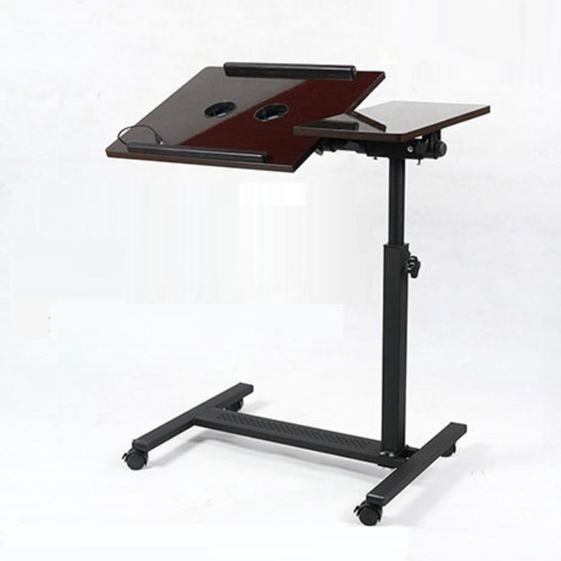 DG#7624 hh# With household bedside mobile folding lifting and rotating simple desk lazy notebook comter table bed FREE SHIPPING high quality simple notebook computer desk household bed table mobile lifting lazy bedside table office desk free shipping