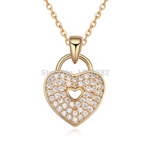 High Quality Gorjuss Full Zircon Heart Pendant Necklace Statement for Women fashion jewelry Crystals From Swarovski(China)