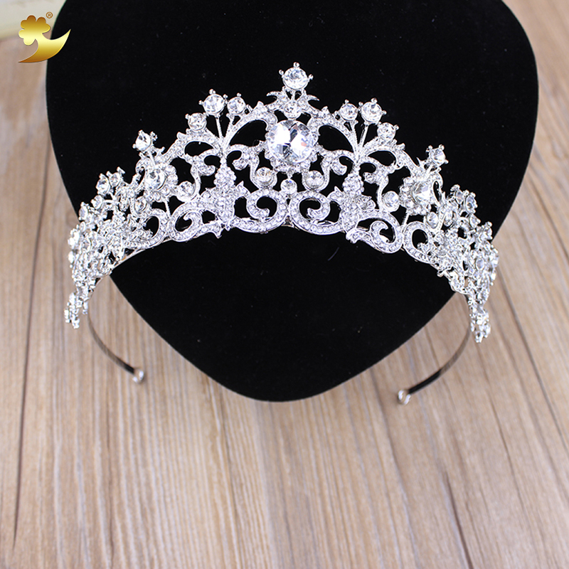 Deartiara Pink Crystal Leaf Tiara Prom Queen Diadem Wedding Head Bands