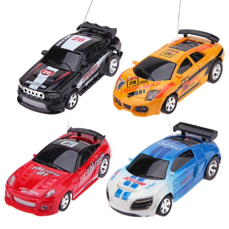 Mini Coke Can Racing Car Toy Micro Electric RC Remote ...