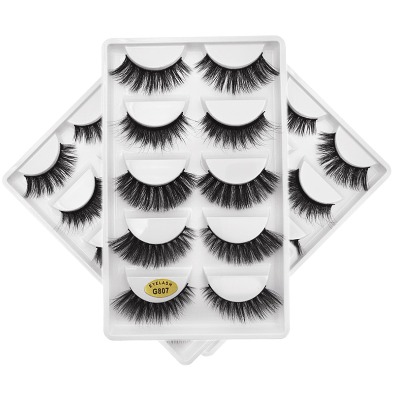 Latest Fashion 3D Real Mink Fur Handmade False Eyelashes Natural Extension Glamour Lash Beauty And Dramatic