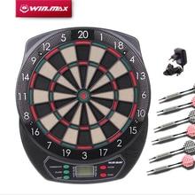 Winmax Indoor Sport Soft Tipp Dartscheibe Set LED Anzeige 6 Darts Elektronische Dartscheibe Score Anzeige 21 Spiele Voice + Darts Neu