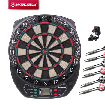 Winmax Indoor Sport Scoring board Dartboard Set LED Display 6 darts Electronic Dart Board Display 21 Games Voice+ Soft tipDarts цена 2017