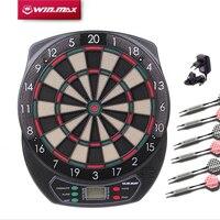 Winmax Indoor Sport Scoring board Dartboard Set LED Display 6 darts Electronic Dart Board Display 21 Games Voice+ Soft tipDarts