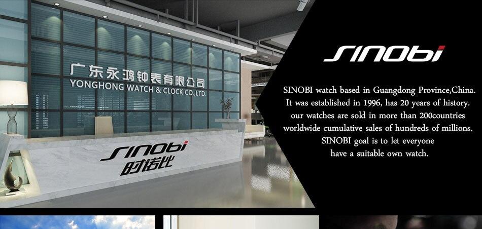 SINOBI Surfing Clock 3Bar Waterproof Watch Mens Sports Wristwatch Designer Branded Chronograph Male Spy Geneva Quartz-watch 007 46