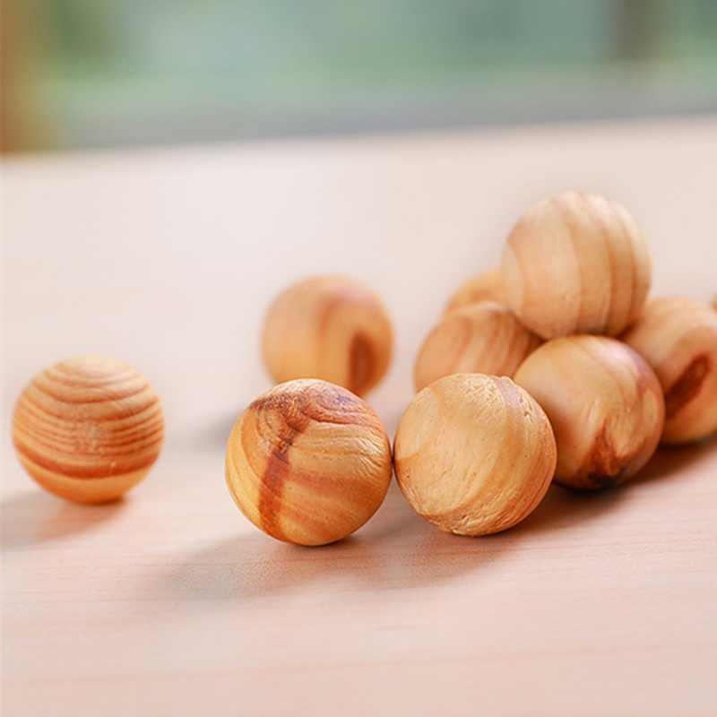 20 個赤杉木製ボール防虫剤の天然芳香杉ボール松ボールクローゼットストレージホーム駆虫