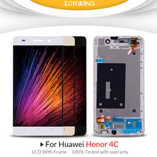 AAA quality For Huawei Honor 4C LCD Display with Touch Screen Assembly With Frame Replacement Parts
