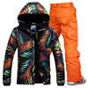2017Winter Gsou Snow Skiing Set Men Snowboard Ski Suit Sets Waterproof Outdoor Camping Hiking Sports Jacket
