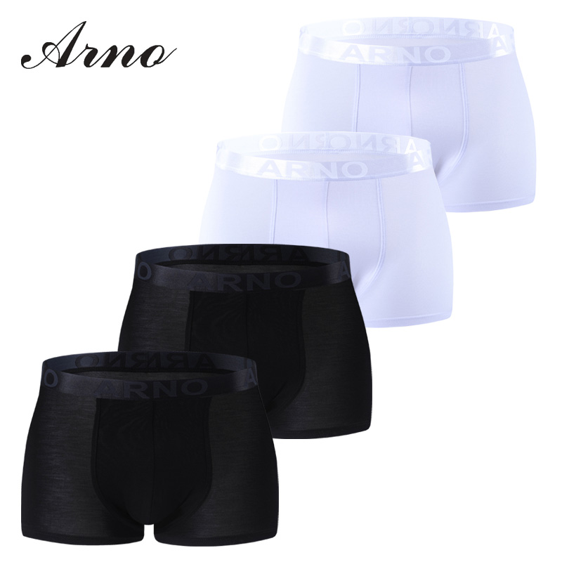 Arno Fashion Sexy Men 39 s Underwear Boxer Shorts Underpant Black and white 4 pieces in Boxers from Underwear amp Sleepwears