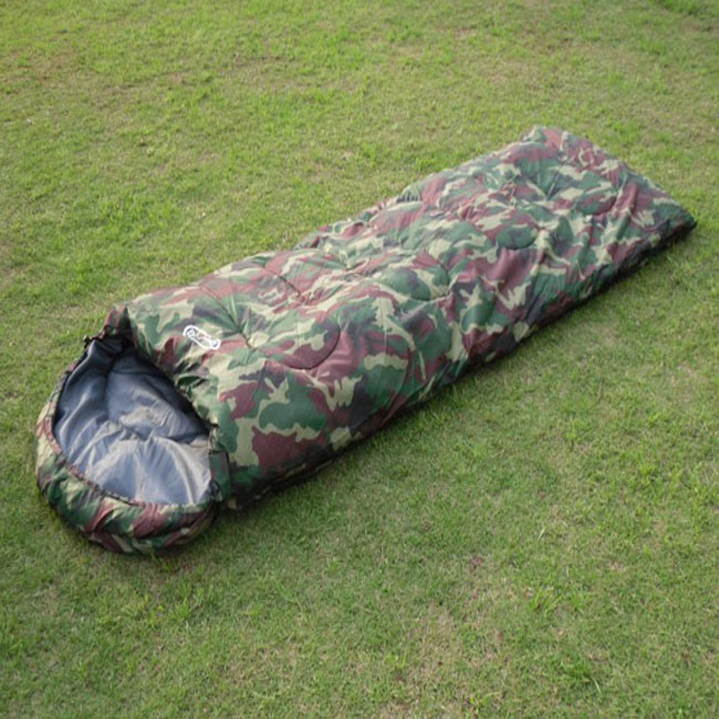 Spring And Autumn Thickening Camouflage Sleeping Bag Adult Outdoor Camping Sleep Bag Cotton 8963 hewolf sleeping bag outdoor cotton lunch break room camping adult spring autumn envelope thickening 2 persons