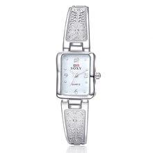 Soxy браслет женские часы Для женщин Часы Модные Серебристые Женские часы Saat Montre Femme Relogio feminino Reloj Mujer