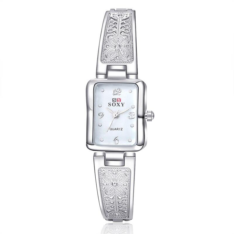 SOXY Bracelet Watch Women Watches Fashion Silver Women's Watches Ladies Watch Clock saat relogio feminino reloj mujer montre