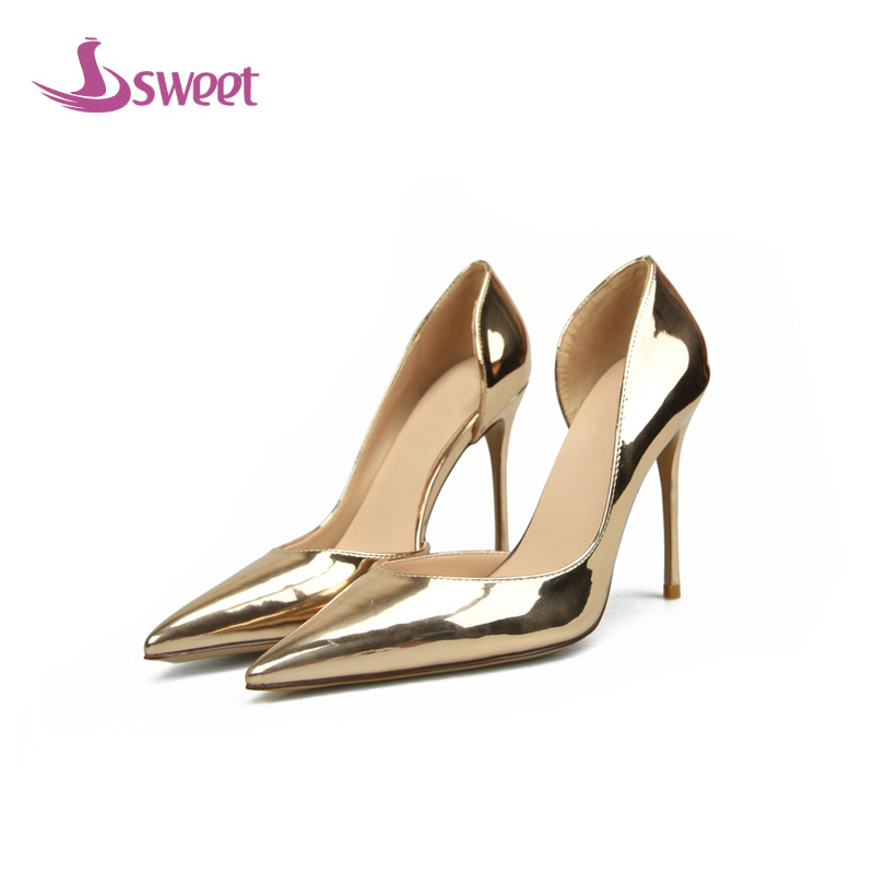sweet Brand womens shoes woman pumps Summer Basic PU Slip-On Pointed Toe Thin Heels Office Lady Shallow Leisure A49 womens shoes high heel woman pumps spring autumn basic silk slip on pointed toe thin heels sexy wedding shoes ljx04 q