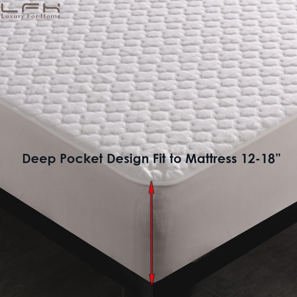 jacquard cloud waterproof mattress protector (2)