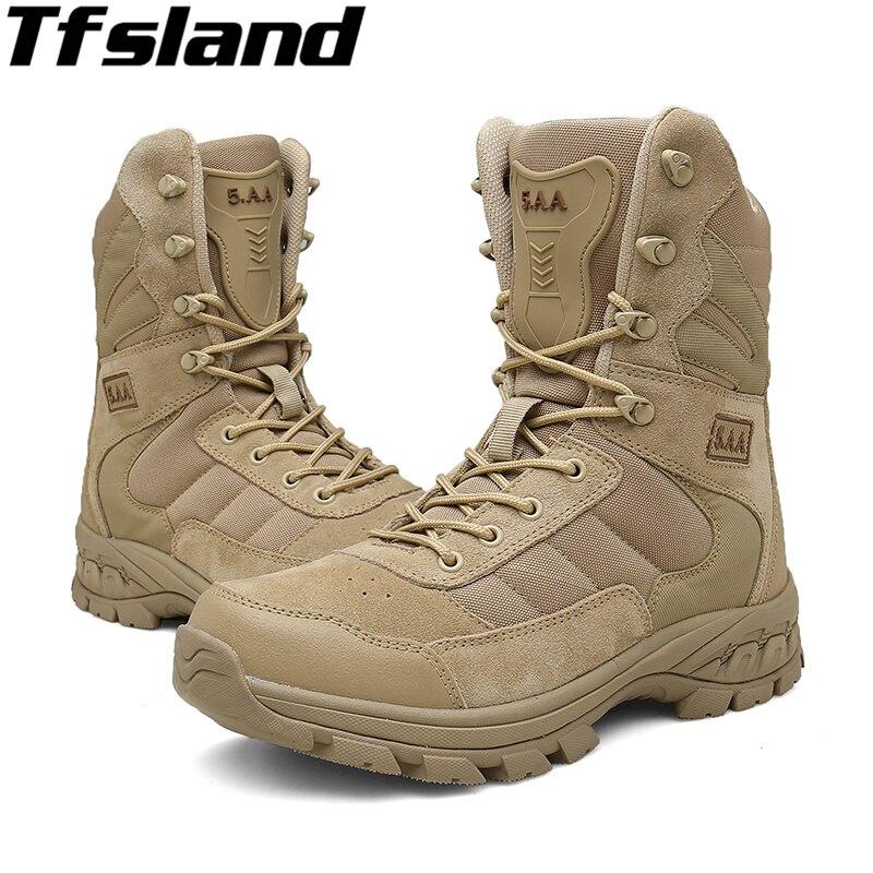 Chaussures de randonnée pour hommes en plein air chaussures de Combat tactiques imperméables et respirantes pour hommes
