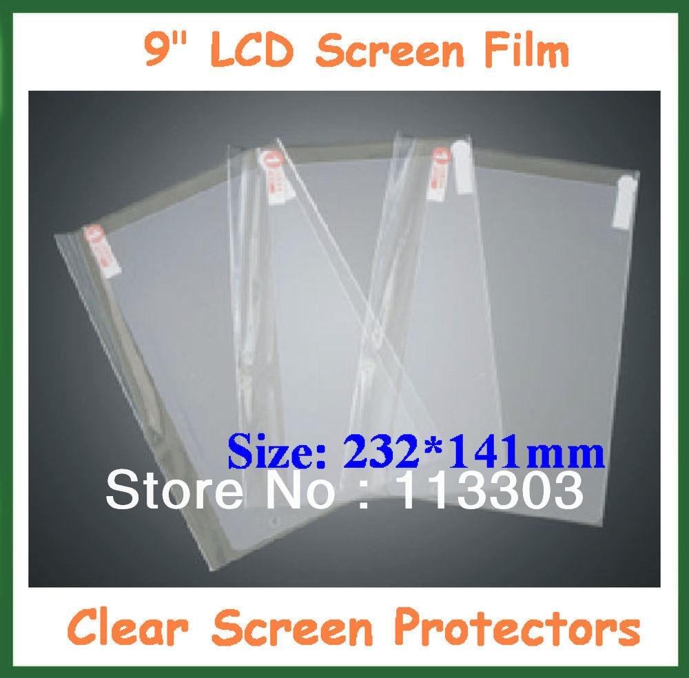 100 шт Защитная пленка универсальная 9 дюймов lcd прозрачная защитная пленка с отверстием для камеры размер 232x141 мм без розничной упаковки