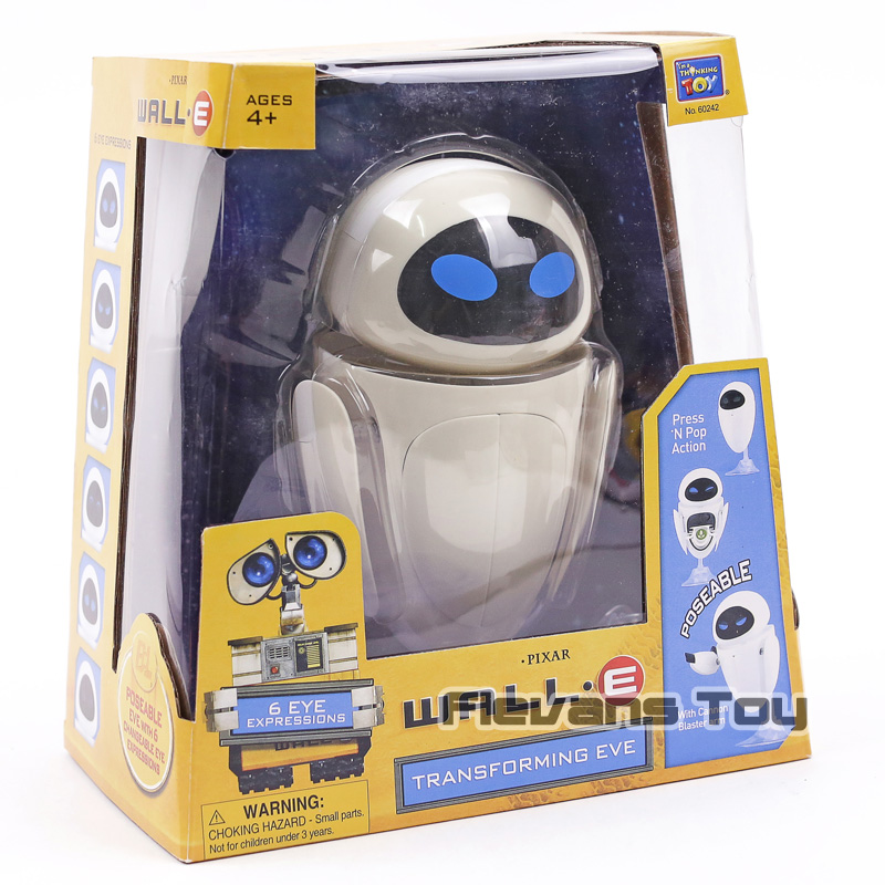 WALL E Transforming EVE (6 Eye Expressions) PVC Action Figure Collectible Model Toy Birthday Gift for Kids chauvet dj eve e 50z