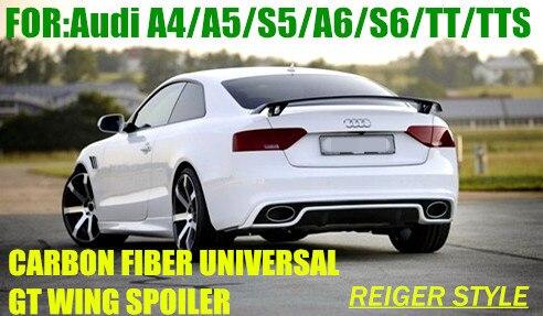 A4 A5 S5 A6 S6 RIEGERR STYLE CARBON FIBER GT WING SPOILER FOR Audi A4 A5 TT Spoilers