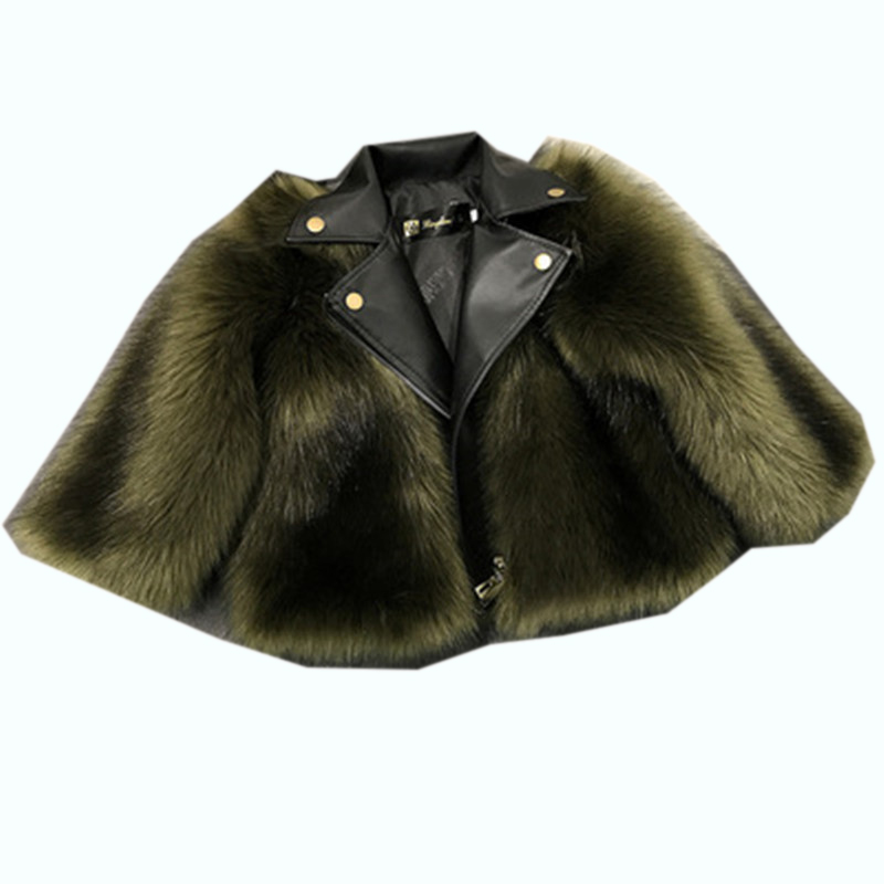 Winter Jackets Kids Girls Faux Fur Coat Children Girl PU Leather Faux Fur Jacket Fake Two Pieces Warm Fur Kids Outerwear Y39 children s unisex faux fur clothing 2018 winter girls and boys patchwork faux fur jackets boys long faux fur outerwear kids coat