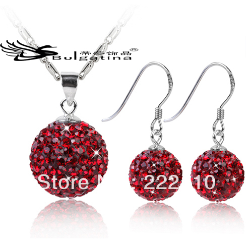 Bridal Jewelry Set For Her Dark Red Stone Jewelry Sets