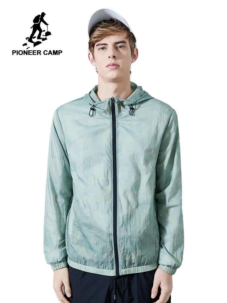 פיוניר מחנה דק קרם הגנה גברים/נשים מעיל עבור צעירים לנשימה אופנה ברדס זכר מעיל מזדמן חיצוני עור מעיל AJK901055