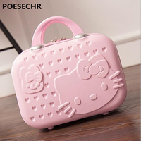 POESECHR New Hot Selling Hand Cosmetic Case 14 InchMakeup Case Beauty Case Cosmetic Bag Lockable Jewelry Box for Ladys Gift