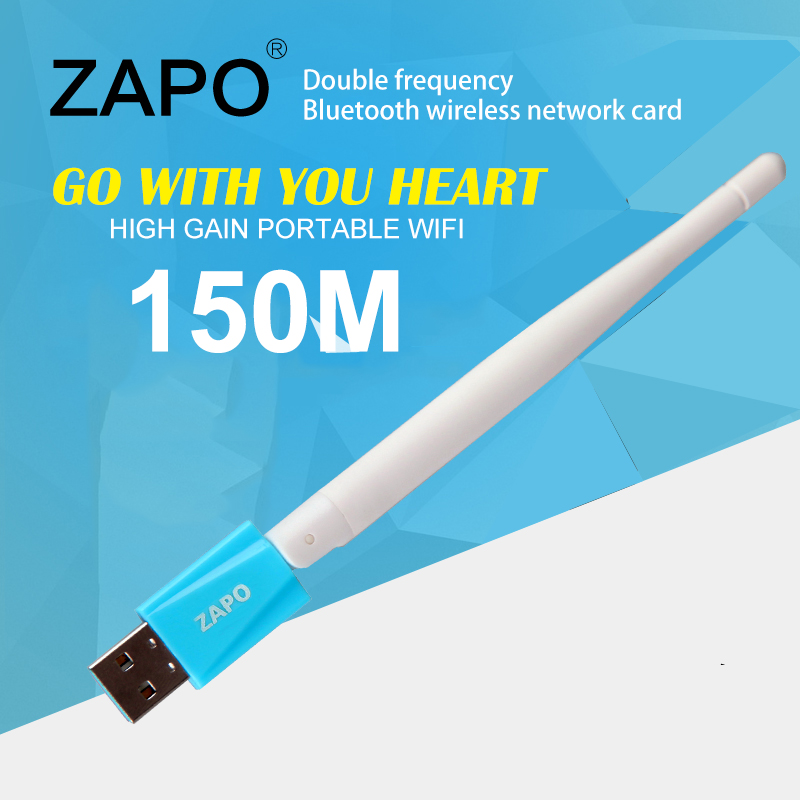 ZAPO 2.4GHz WiFi USB Colorful Adapter 150Mbps Wireless 802.11n - Network Hardware