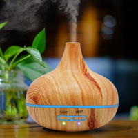Wood Grain 300 ML Air Humidifier Essential Oil Diffuser Aroma Lamp Aromatherapy Electric Aroma Diffuser 505Y