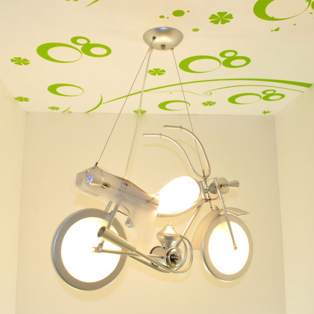 Children toy modern Package motorcycle pendant light cartoon lighting children bedroom personalized creative LED lamp ZH ET48 simple led modern lighting kids bedroom pendant light children bedroom home lighting cartoon boy room led pendant lamp