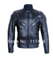 Free Shipping 1 Piece Racer Motorcycle Racing PU Leather Jackets With Protection