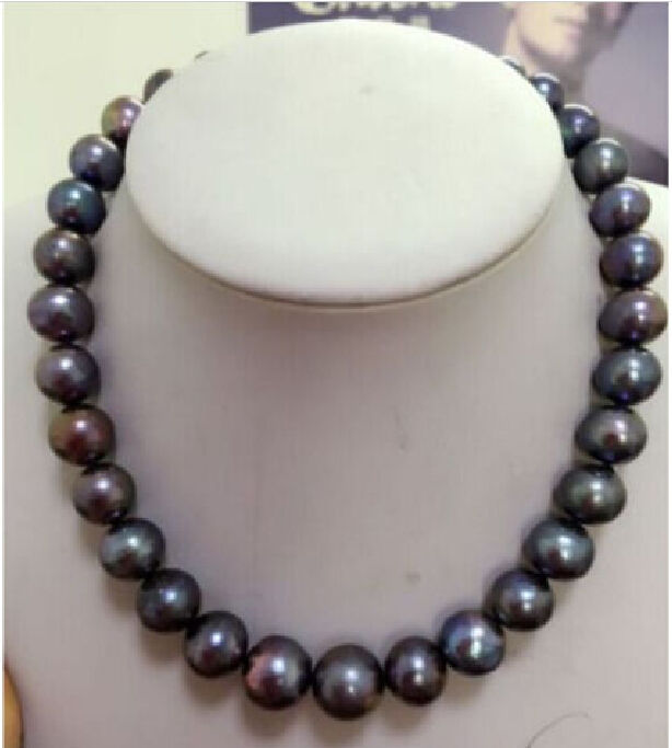 """Huge AAA 18/""""  RARE WHITE 12-13MM SOUTH SEA PEARL NECKLACE 14K"""