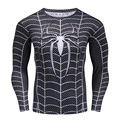 Spiderman veneno t-shirt long neck sleeve tripulação mens marvel dc comics crossfit tee casual tops 3d impresso masculino clothing