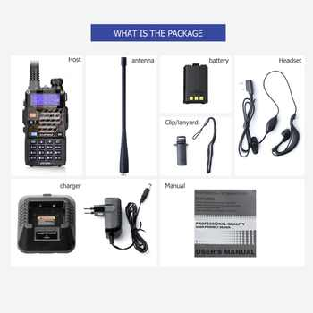 Baofeng UV-5RB ham Two Way Radio for Police Fire Dual Band 136-174Mhz & 400-520Mhz Handheld Scanner Portable Transceiver