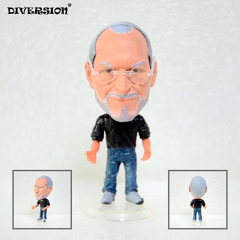 Apple Founder Steve PVC Figures Jobs Dolls 6.5 Cm Furnishing Articles Christmas Gift Steve Jobs Dolls