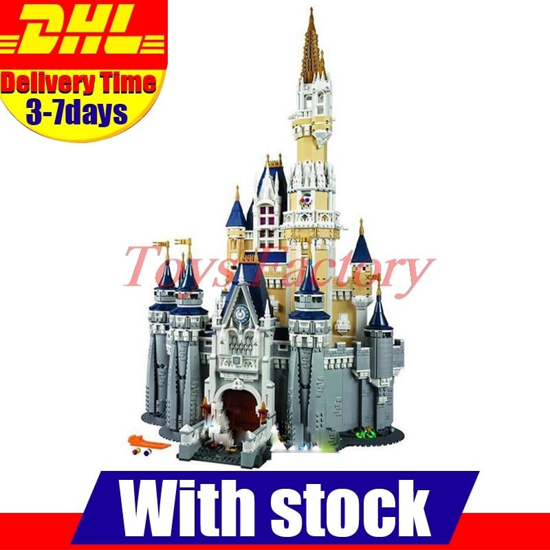 DHL Lepin 16008 City  Street Cinderella Princess Castle 4080Pcs Model Building Set Block Kid Toys Gift Compatible 71040