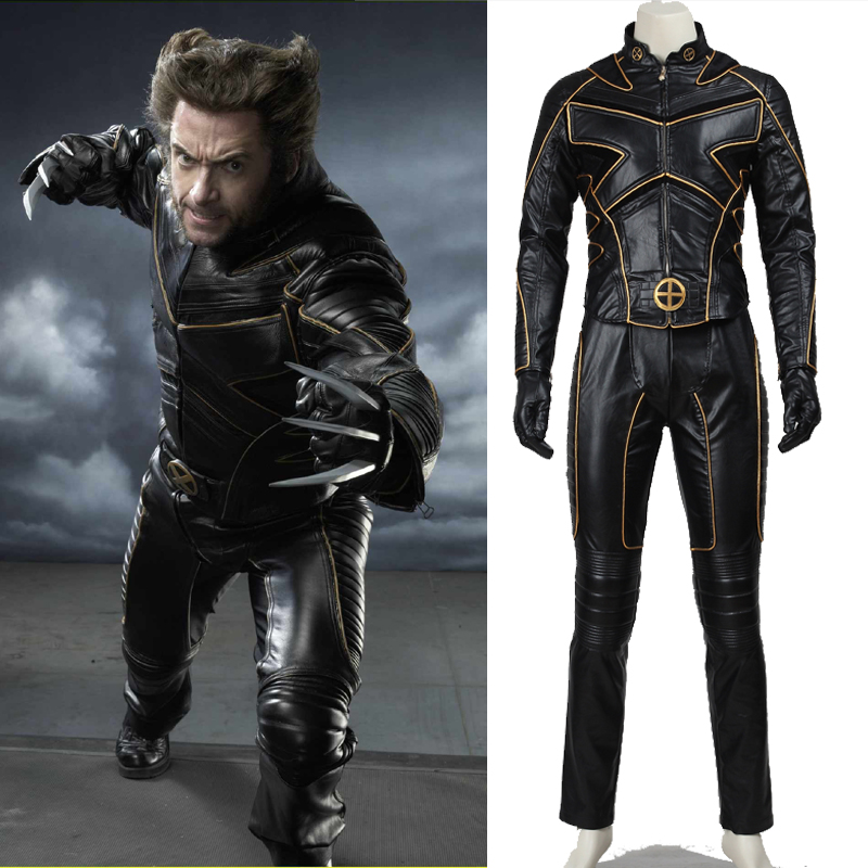2016 halloween costumes men customized men leather costume X,men Logan Cosplay Costume James Logan