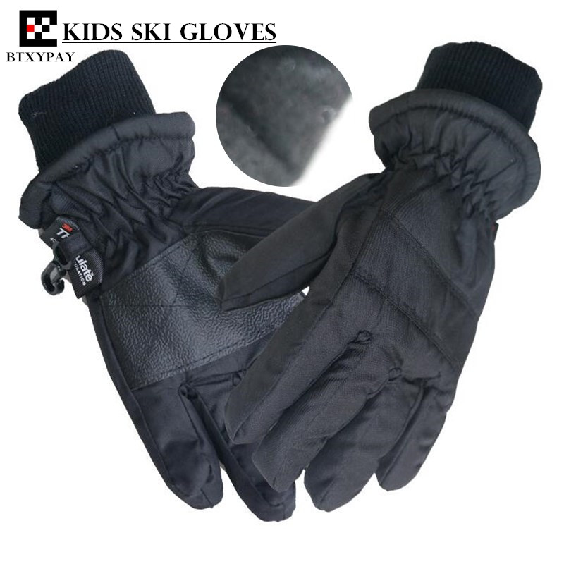 20p Children Ski Gloves,Winter Plus Velvet Warm Kids Boys&Girls Outdoor Sport Skiing Gloves Waterproof Windproof Gloves, 1-4age