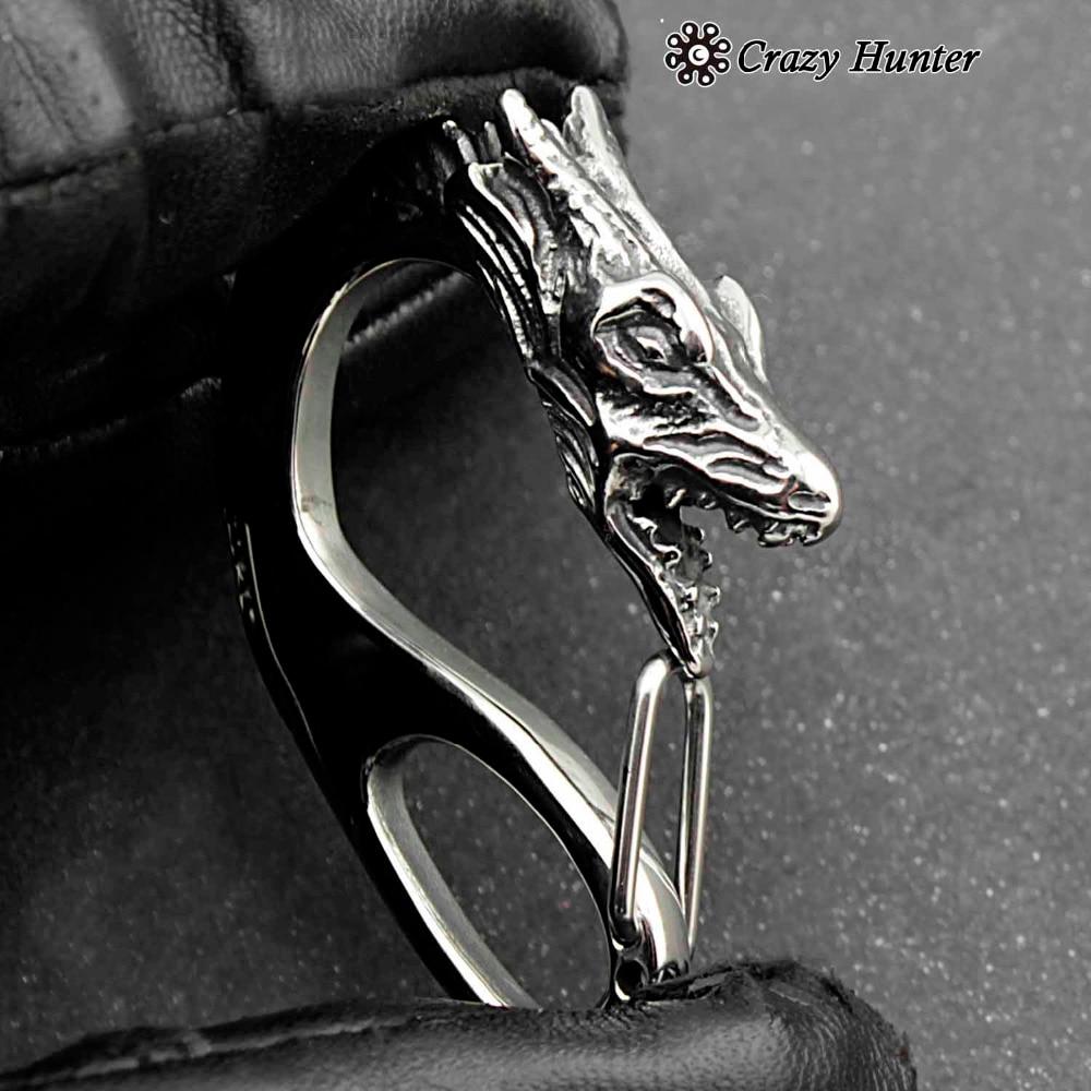 Dragon Head Biker Clip Hook Carabiner Wallet Chain Keychain Buckle Clasp