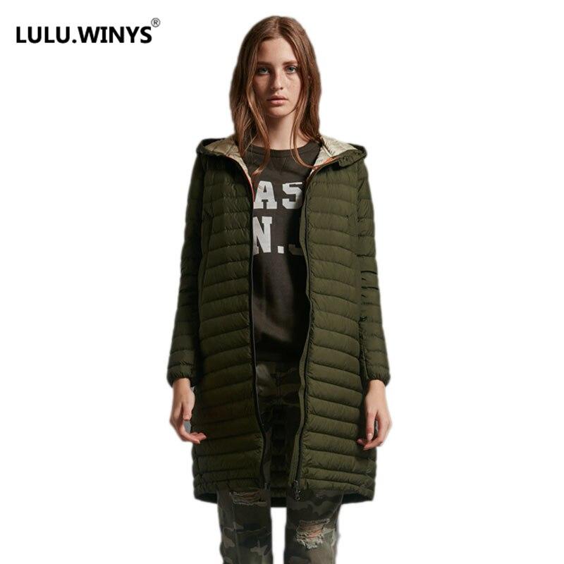 LULU WINYS 90 White Duck Down font b Jacket b font Autumn Winter New Warm Slim