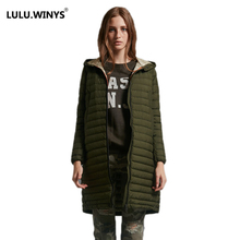 LULU.WINYS 90% White Duck Down Jacket Autumn Winter New Warm Slim Zipper 2017 Women Fashion Light Down Coat S-3XL 816731