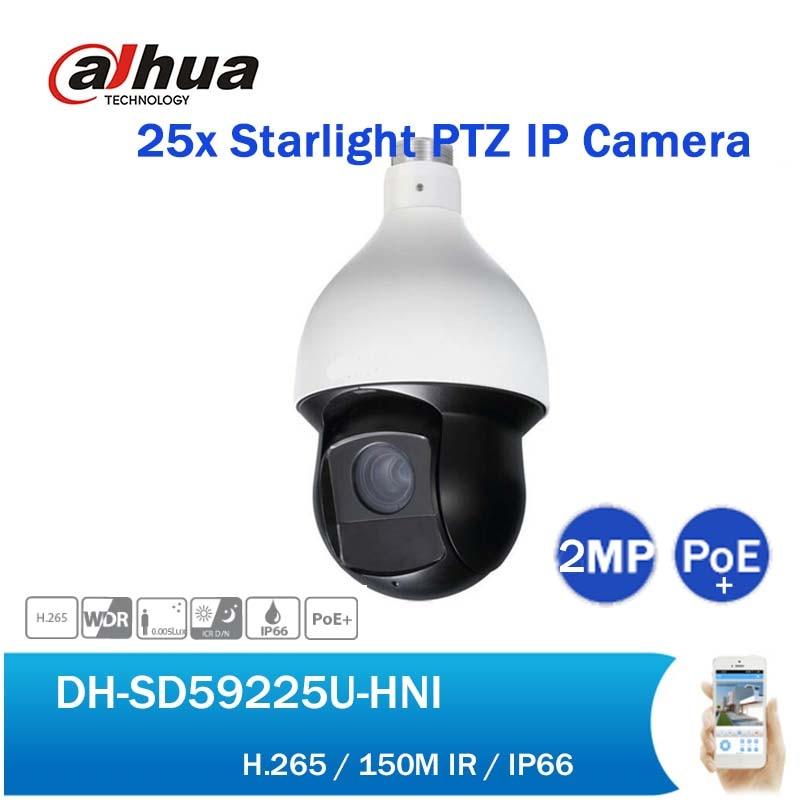 English DH DH-SD59225U-HNI 2MP 25X Starlight IR PTZ Network Camera Outdoor H265 150M IR PoE Speed Dome IP Camera without logo cctv security sd6c225i hc 2mp 25x starlight ir 150m 4 8 120mm ptz hdcvi camera