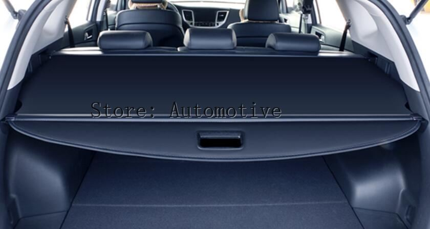black rear trunk cargo cover security shield for jeep cherokee 2014 2015 2016 not fit for grand. Black Bedroom Furniture Sets. Home Design Ideas