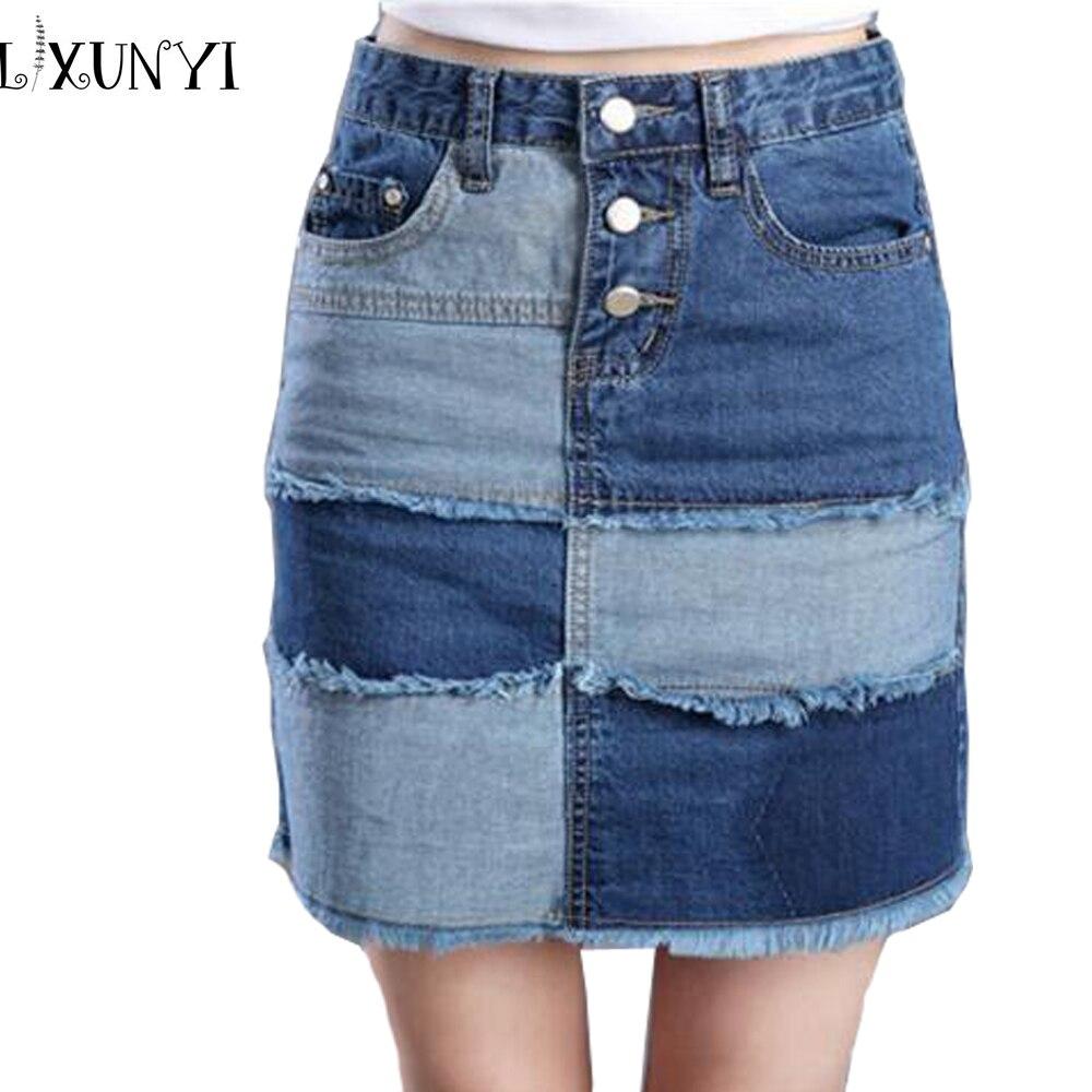 Короткие джинсовые юбки и шорты