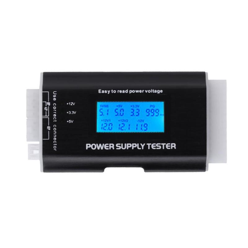Power Supply Tester Digital LCD Display PC Computer Power Tester Voltage Detector ATX Measuring Tool