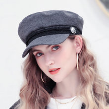 Fashion Winter Wool Beret Hat Women 2018 Autumn Black Fiddler Cap Hat French Style Flat Caps High Quality Casual Streetwear Hats(China)